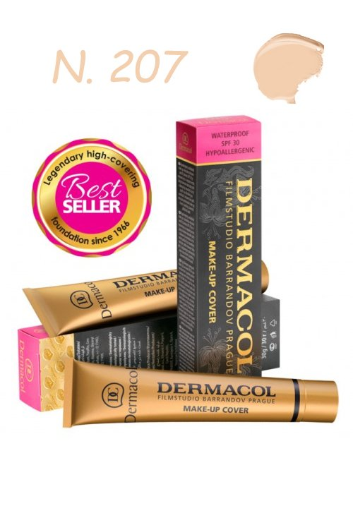 DERMACOL MAKE-UP COVER WATERPROOF SPF30 HYPOALLERGENIC 207 30gr