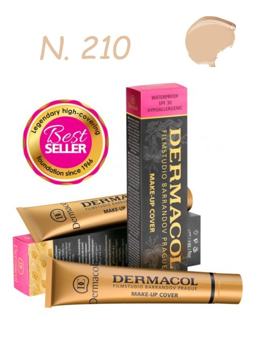 DERMACOL MAKE-UP COVER WATERPROOF SPF30 HYPOALLERGENIC 210 30gr