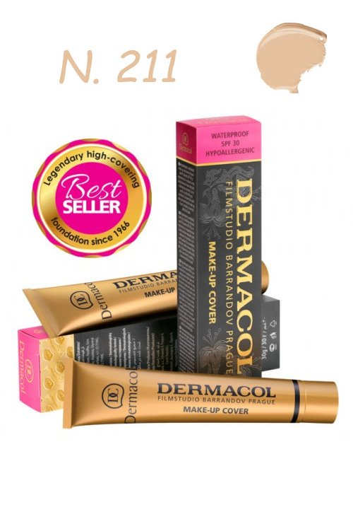 DERMACOL MAKE-UP COVER WATERPROOF SPF30 HYPOALLERGENIC 211 30gr