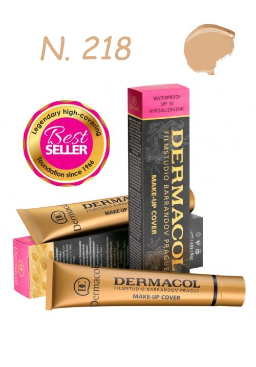 DERMACOL MAKE-UP COVER WATERPROOF SPF30 HYPOALLERGENIC 218 30gr