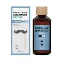 VICAN WISE MEN BEARD AND HAIR SHAMPOO FRESH 200ml - Σαμπουάν για τη γενιάδα του άνδρα και τα μαλιά