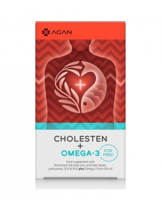 Agan Cholesten 30 vegicaps + Omega 3 30 softgels