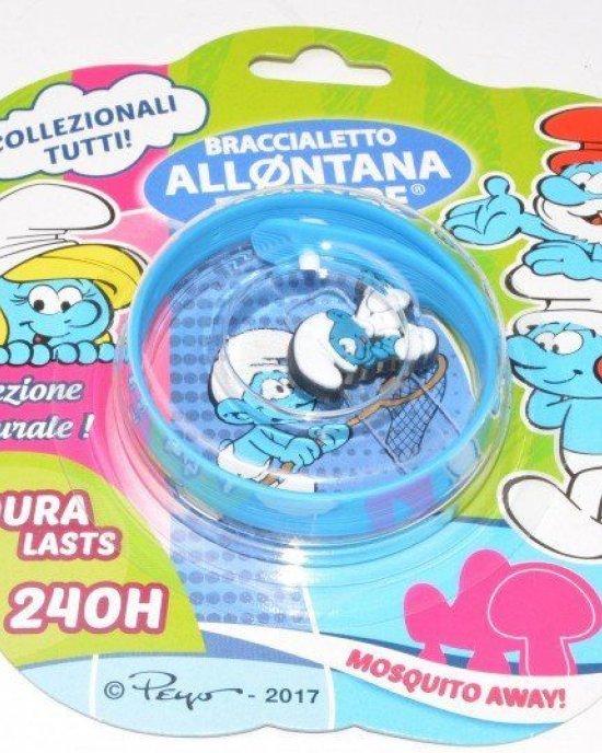 Brand Italia Braccialetto Allontana Zanzare Puffi