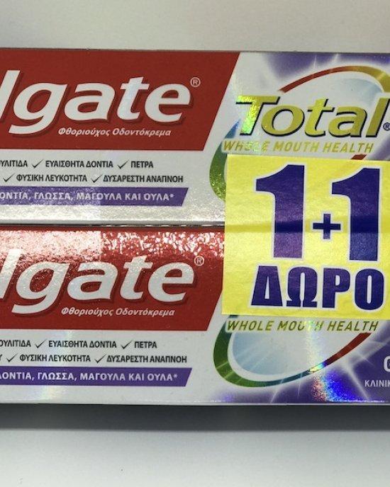COLGATE 1+1 Total Advanced Gum Health  2 x 75ml