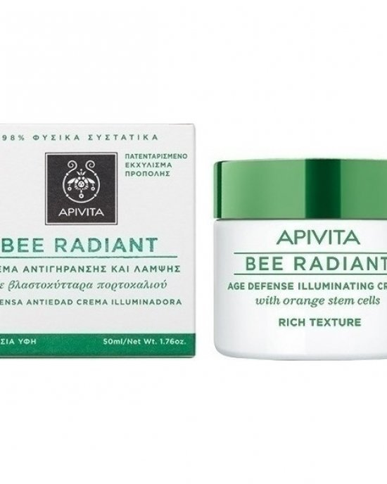 APIVITA BEE RADIANT AGE DEFENSE ILLUMINATING CREAM RICH TEXTURE 50ML