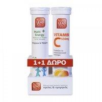 Nutralead Multi + Energy 20 αναβρ. δισκία + Vitamin C550mg 20 αναβρ. δισκία