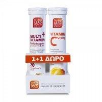 Nutralead Multi + Vitamin Πολυβιταμίνη 20 αναβρ. δισκία + Vitamin C550mg 20 αναβρ. δισκία