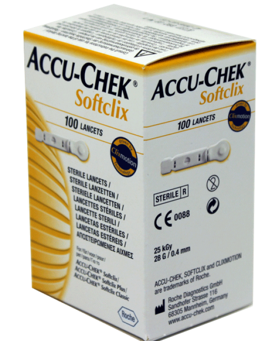 ACCU CHEK SOFTCLIX 100Lancets