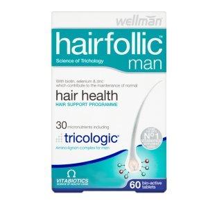 VITABIOTICS Hair Folic Man, 60 tabs